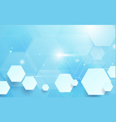 abstract hexagons technology concept background vector image vector image
