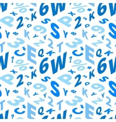 Blue letters in isometric projection on white vector