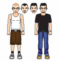 comic male figure vector image