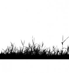 grass silhouette black vector image