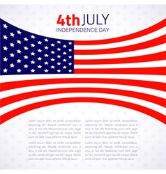 Stylish american Independence day design vector image vector image