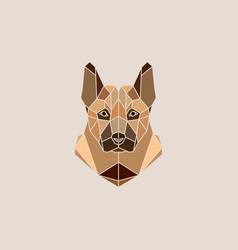 german shepherd dog portrait vector image
