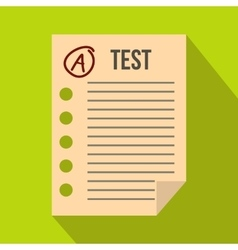 Test paper icon flat style vector