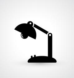 Vintage lamp icon vector image