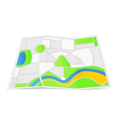 Abstract Map vector image vector image