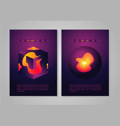 abstract poster future forms cover with vector image vector image