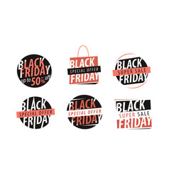 black friday banner sale closeout shopping vector image vector image