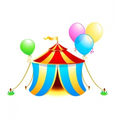 circus symbol vector image vector image