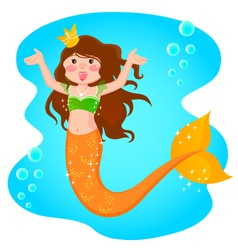 mermaid princess vector image vector image