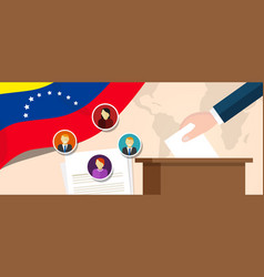 venezuela democracy political process selecting vector image vector image