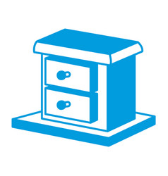 wooden box drawer vector image