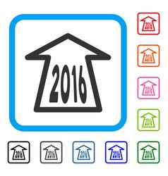 2016 ahead arrow framed icon vector