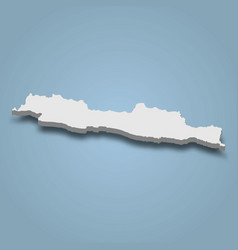 3d isometric map java is an island in indonesia vector