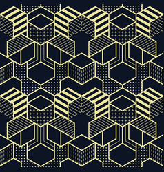 Abstract geometric shapes seamless cubes pattern vector
