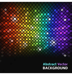 Abstract mosaic rainbow glowing squares vector