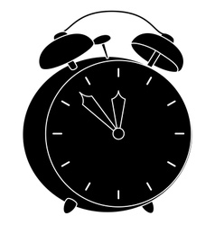 Alarm clock black silhouette vector image