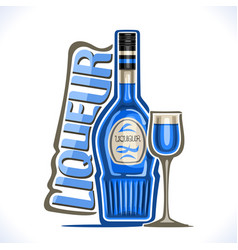 Alcohol drink curacao liqueur vector