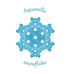 Aquarelle snowflake hand drawn watercolor winter vector