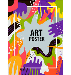 artistic colorful hand drawn poster flyer vector image