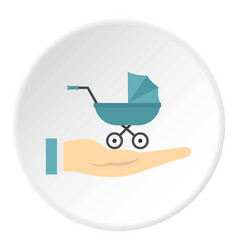 baby pram protection icon circle vector image