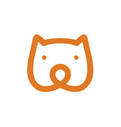 bear head monoline icon vector image