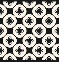 Black and white abstract floral seamless pattern vector