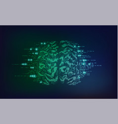 brain side vector image