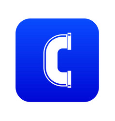C joint pipe icon digital blue vector