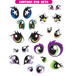 cartoon eye set vector image