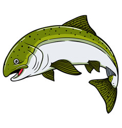 cartoon salmon fish vector image