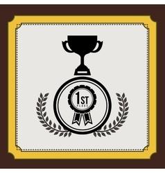 Championship award design vector