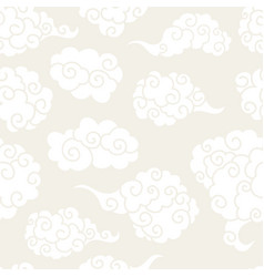 chinese clouds smoke seamless pattern vector image