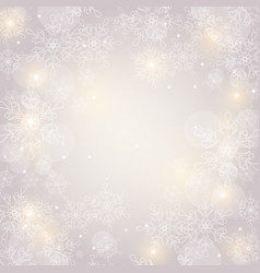 Christmas background with snowflakes and space vector