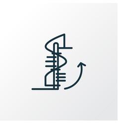 Circular staircase icon line symbol premium vector
