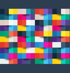 Colorful abstract background square paper cut vector