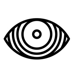 Concentrated eye icon outline style vector