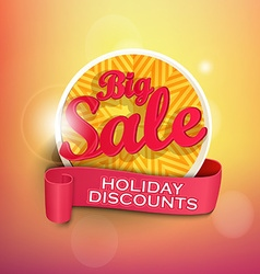 Concept of summer big sale vector image