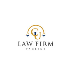 cu law logo design vector image