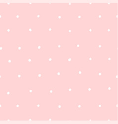 cute seamless pink pattern with white dots polka vector image