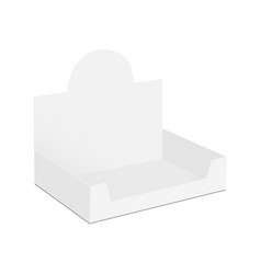 Display box mock up - half side view vector