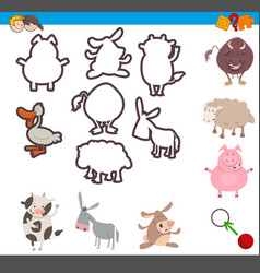 educational game with animals vector image