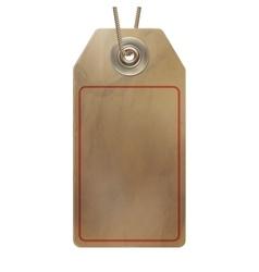 Empty cardboard tag EPS 10 vector image