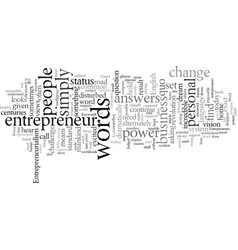 Entrepreneurialism the power of the what if vector