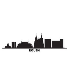 France rouen city skyline isolated vector