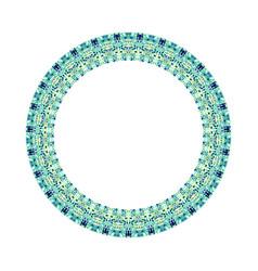 Geometrical colorful mosaic wreath - circular vector