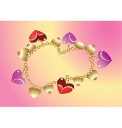 gold bangle vector image