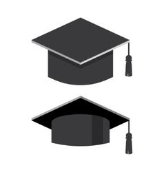 Graduation cap flat vector
