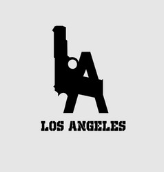 Guns-los-angeles-tshirt vector