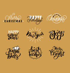 happy new year festive greetings merry christmas vector image