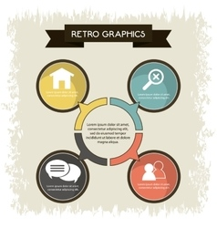 Infographics icon Retro design graphic vector image